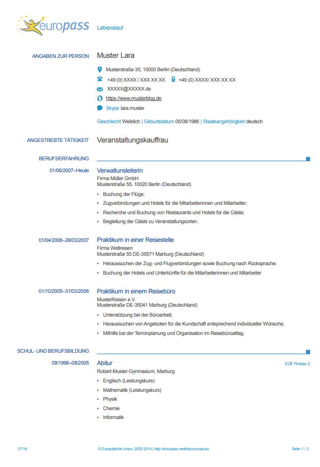 Currículum europeo alemán
