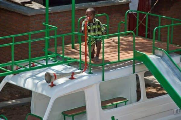 Ambulance Playground In Malawi Recyclart