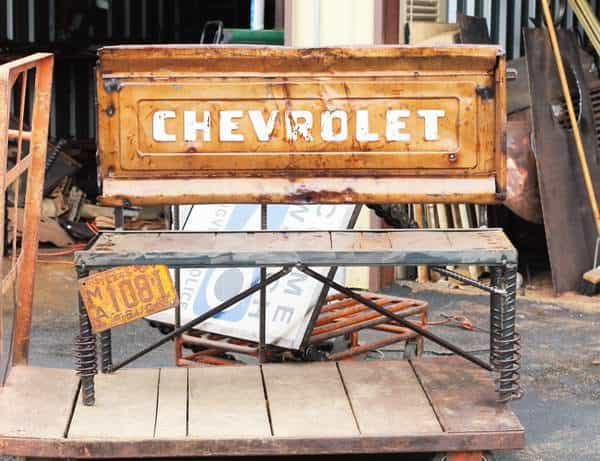 Upcycled Auto Amp Truck Parts Into Tailgate Benches Recyclart