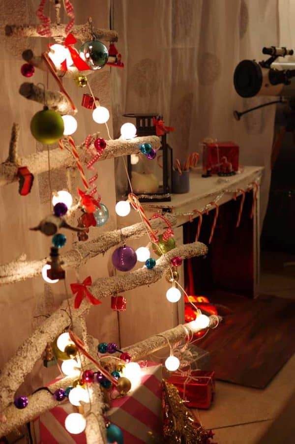 Diy Christmas Tree From Old Branches Recyclart