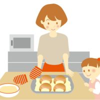 親子でパン作り