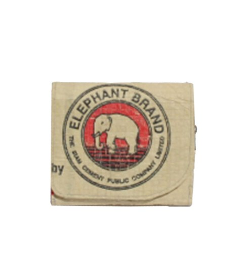 Elephant Brand Recycled Ladies 3 fold Wallet with inside zip4