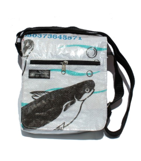 Recycled Fish Feed Deluxe Small Messenger Bag 12