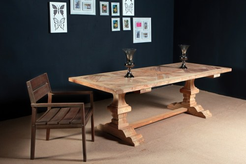 reclaimed wood furniture - teak table PFIT-04