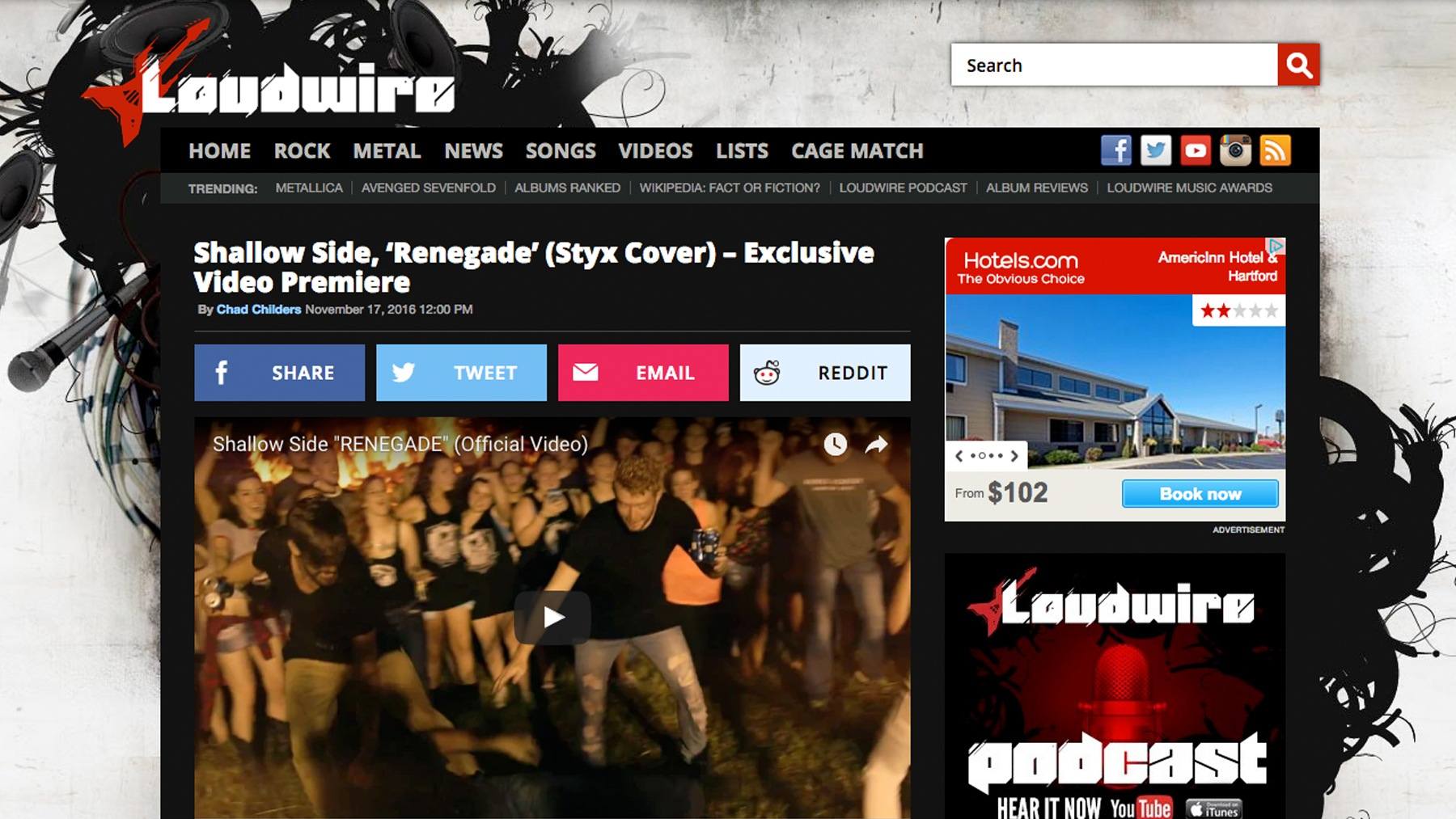 SHALLOW SIDE RENEGADE LOUDWIRE