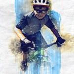 Digital illustration Mountain Bike Art