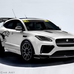 Digital Car Render Illustration Jaguar epace