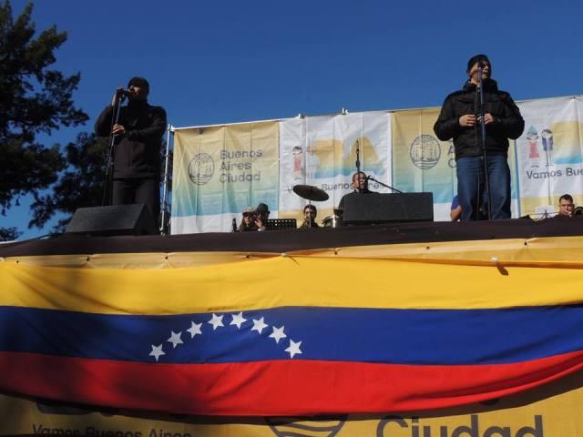 Un show en BA x Venezuela. Crédito: Facebook ASOVEN