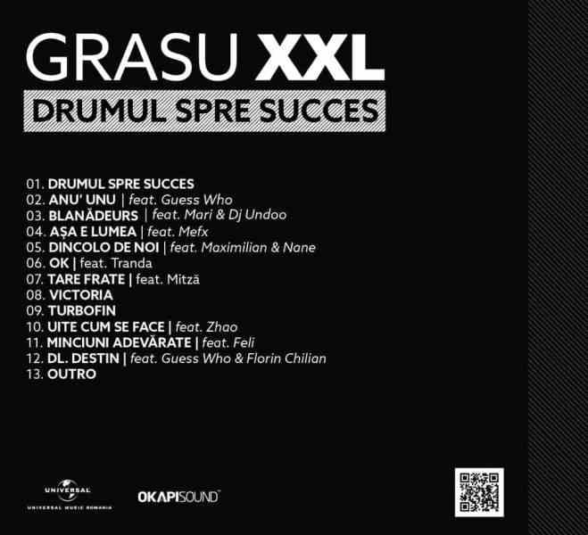 Grasu xxl tracklist drumul spre succes