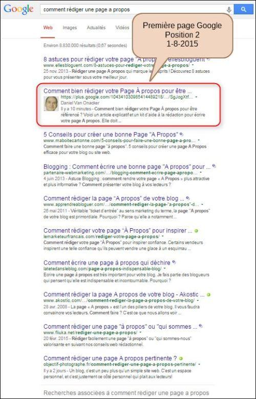 Go SEO - Résultats Google - page-a-propos