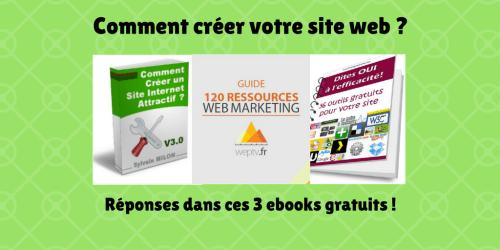 Créez votre site internet avec ces 3 ebooks gratuits