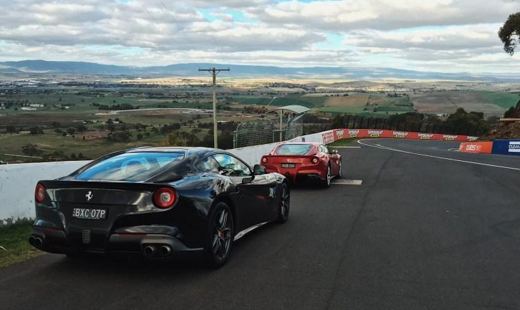 Ferraris atop Mount Panorama, Bathurst