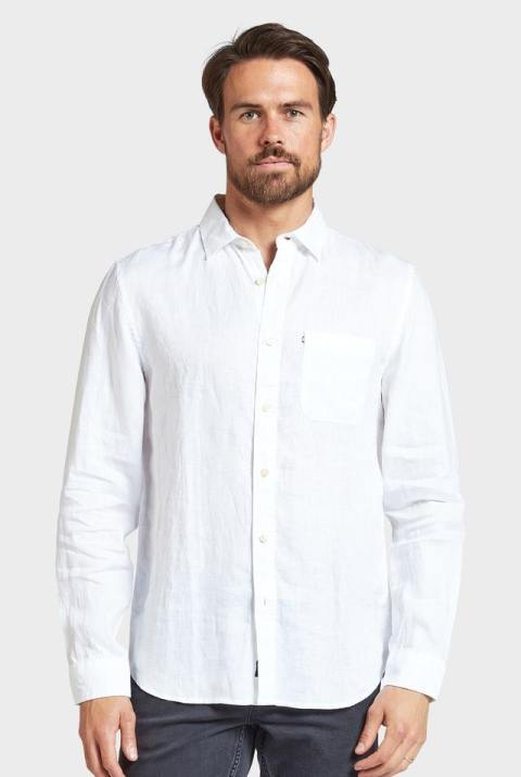 Academy Brand Hampton Linen Shirt in White
