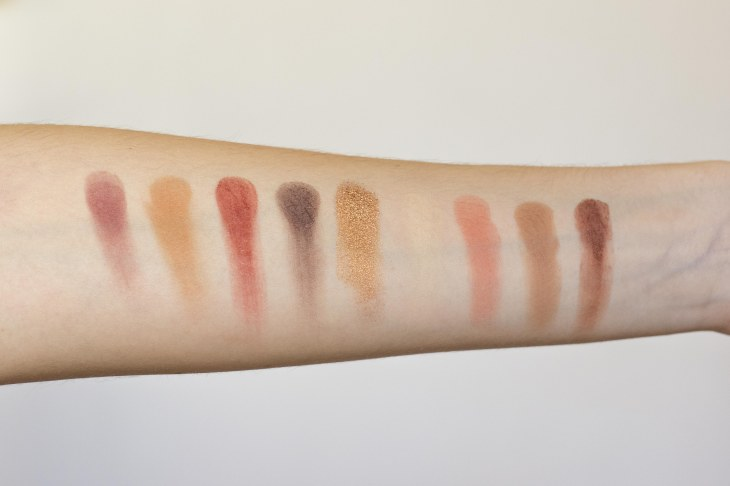 swatchs huda beauty warm brow obsessions
