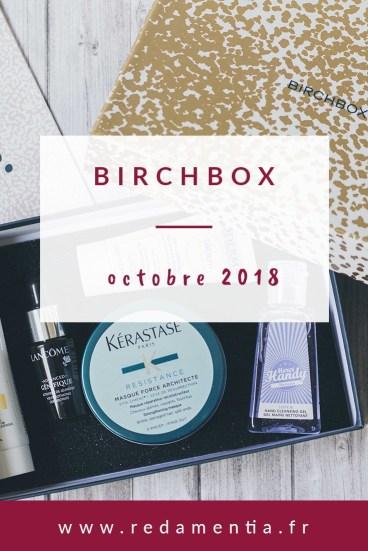 Birchbox Octobre 2018 Pinterest