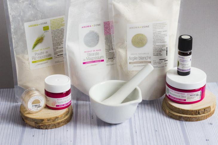 Ingrédients DIY poudre matifiante red amentia