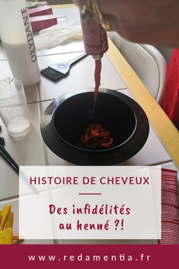 Histoire de cheveux infidélités au henné coloration chimique par Red Amentia