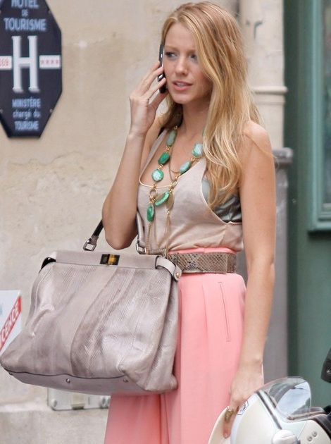Blake Lively di Gossip Girl + Fendi