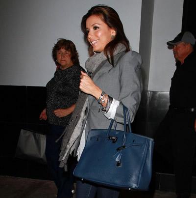 Eva Longoria + Hermès Birkin