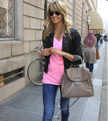 Elena Santarelli + Prada