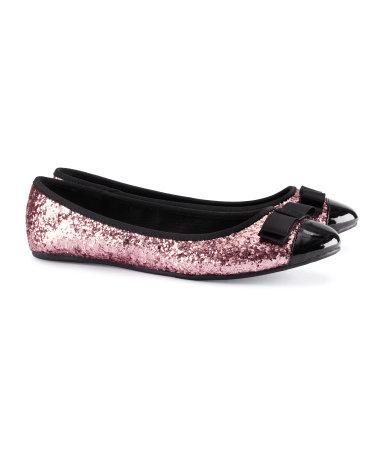 H&M ballerine glitter Capodanno
