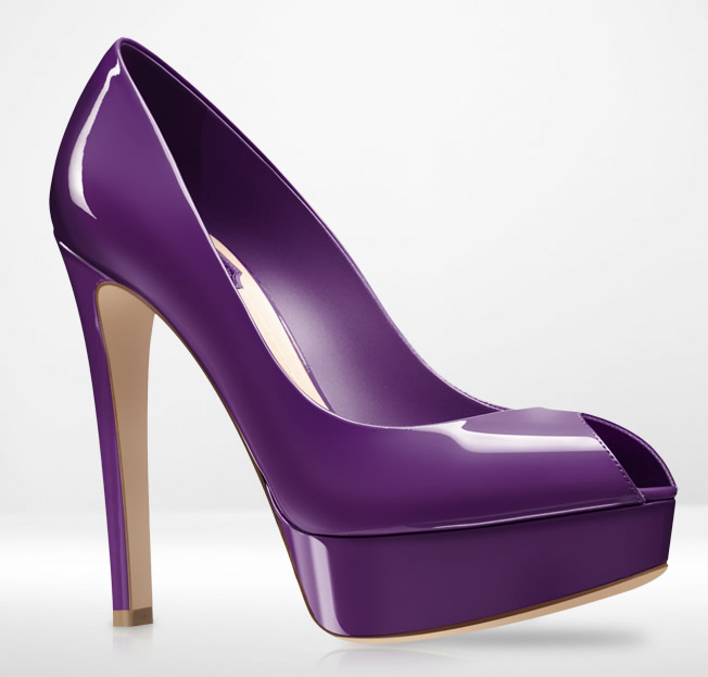 Miss Dior decolletees in vernice viola