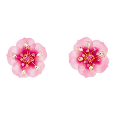 Miu Miu orecchini a fiore rosa