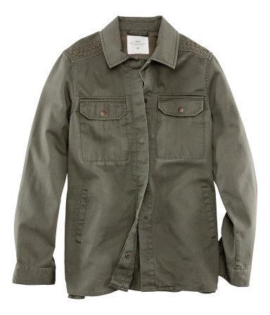 H&M giacca militare con borchie