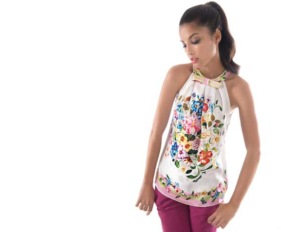 Nara camicia top a fiori