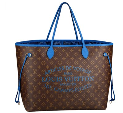 Neverfull Estate 2013 blu, rosa e fucsia