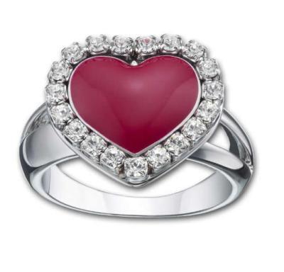 Swarovski anello cuore con pavé di cristalli