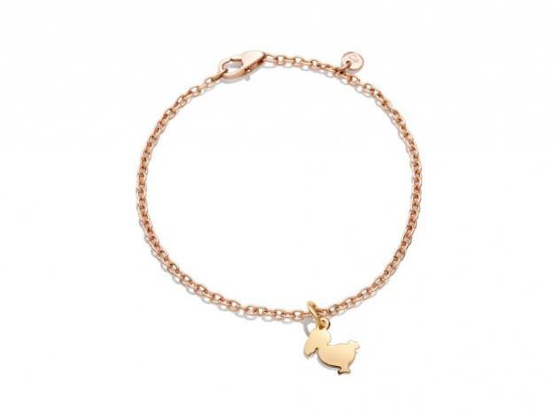 Dodo braccialetto catenina in oro rosa