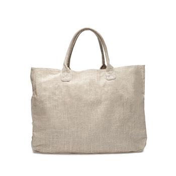 Zara borsa spiaggia in lino