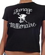 hat t-shirt by teenage millionaire