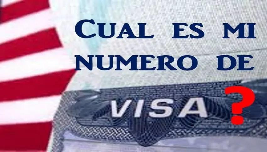 ¿Cuál es mi número de visa americana? - Te mostramos