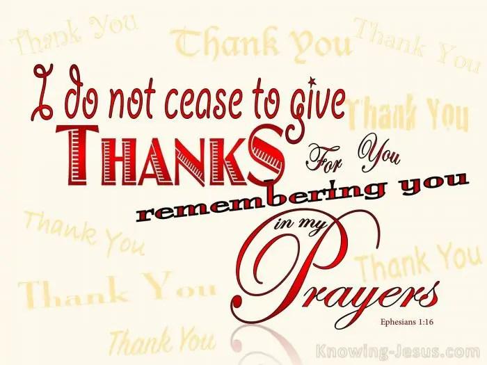 Ephesians 1:16