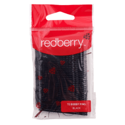 Redberry Black Bobby Pins