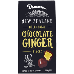 Donovans Delectable Dark Chocolate Ginger Pieces - 180g
