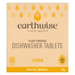 Earthwise Lemon Plant Powered Dishwasher Tablets - 50ea