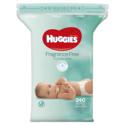 Huggies Fragrance Free Thick Baby Wipes - 240ea