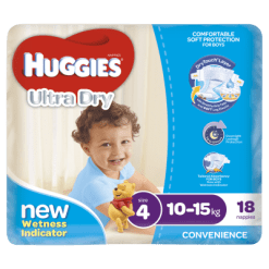 Huggies Ultra Dry Nappies Boy 10-15kg Toddler - 18ea