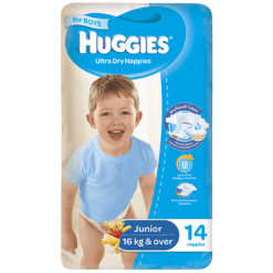 Huggies Ultra Dry Nappies Boys 16kg+ Junior - 14ea