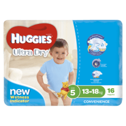 Huggies Ultra Dry Nappies Walker 13-18kg For Boys - 16ea