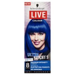 Schwarzkopf Live Ultra Bright's Electric Blue Hair Colour