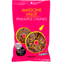 Rainbow Pineapple Chunks Confectionery - 210g