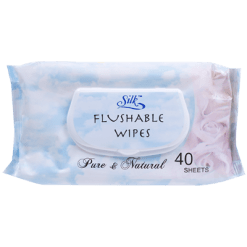 Silk Flushable Wipes - 40ea
