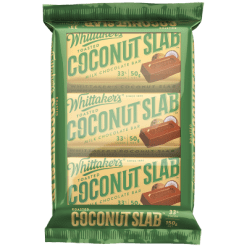 Whittaker's Toasted Coconut Slab Dark Chocolate Bar - 3pk