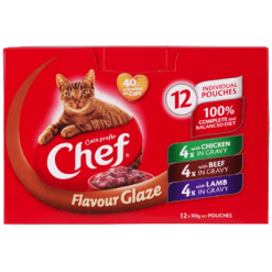 Chef 3 Flavour Glaze Cat Food - 12pk