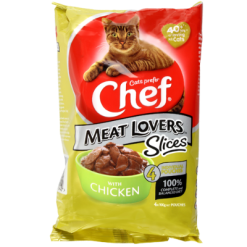 Chef Meat Lovers Chicken Slices Cat Food - 4pk