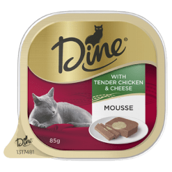 Dine Mousse Tender Chicken & Cheese Cat Food - 85g